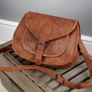 Vintage Style Two Pocket Handbag - cross body bags