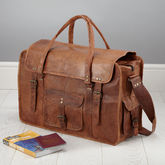 Leather Weekend Bag - anniversary gifts