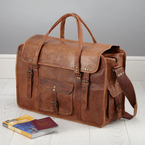 Leather Weekend Bag - bags & cases