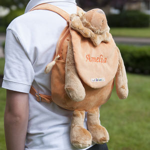 Personalised Children's Lion Rucksack - baby changing
