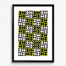 Modern Block Pattern Art Print