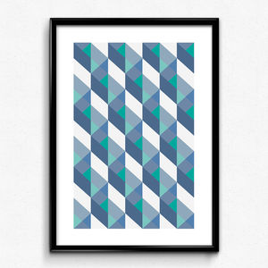 Modern Geometric Pattern Print - contemporary art