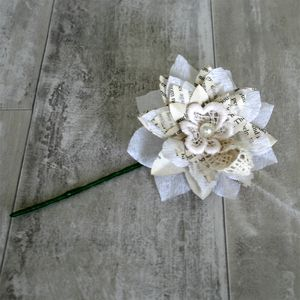 Storyteller Paper Flower Buttonhole - room decorations