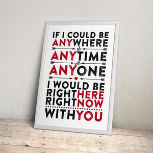 Romantic Message Print - baby's room