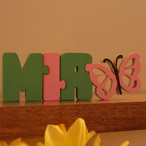 Personalised Wooden Name Jigsaw - educational toys