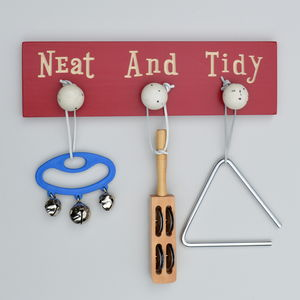 Engraved Wooden Neat And Tidy Hanger