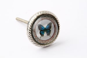 Blue Butterfly Drawer Knob - home accessories