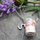 Necklace With Mini Macaroon Jar Charm