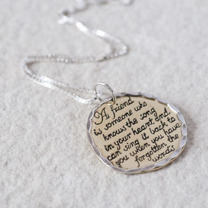 'A Friend Is Someone' Necklace - necklaces & pendants