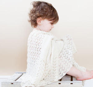 100% Cashmere Sunshine Christening Shawl - blankets, comforters & throws