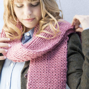 Make Your Own Beginner Vale Scarf Knitting Kit
