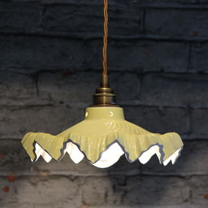 Welby Primrose Ceramic Pendant Light