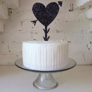 Large Heart And Arrow Cake Topper