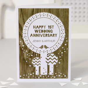 Personalised 1st Wedding Annivrsary Card - anniversary cards