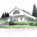 Personalised Wedding Venue Watercolour