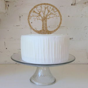 Personalised Tree Cake Topper - cake toppers & decorations