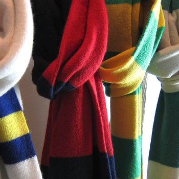 Deluxe Cashmere Football Scarf