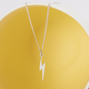 Sterling Silver Lightning Bolt Necklace - necklaces & pendants