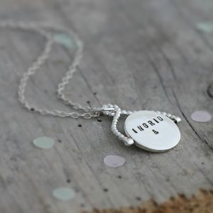 Personalised Spinning Necklace - necklaces & pendants