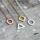 Personalised Mini Geometric Charm Necklace