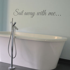 Sail Away With Me…Wall Sticker - home accessories