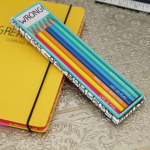Cheerful Pencil Gift Set