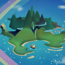 Disney Neverland Pan Retro Travel Print