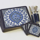 Set Of Four Iznik Bluebell Coasters