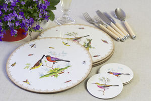Set Of Four Exotic Bird Coasters
