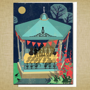 Bandstand Greetings Card - gifts