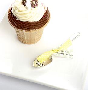 Happy Birthday Silver Plated Tea Spoon