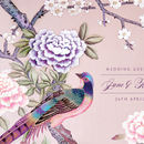 personalised Chinoiserie Print Guest Book_Pink
