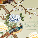 Personalised Chinoiserie Print Guest Book_Sage