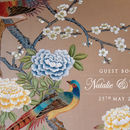 Personalised Chinoiserie Print Guest Book_Blue