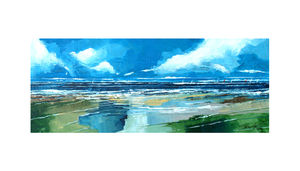 Sea And Beach View Two - canvas prints & art