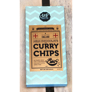 Curry And Chips Milk Chocolate Bar - stocking fillers under £15