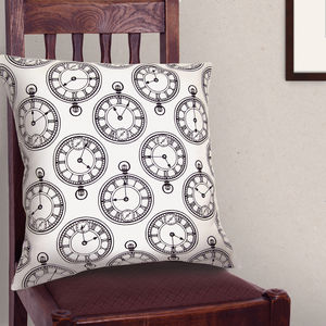 Pocket Watch Cushion - patterned cushions