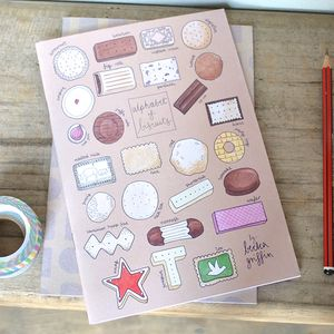 Biscuit Alphabet Notebook Set Of Two - summer sale