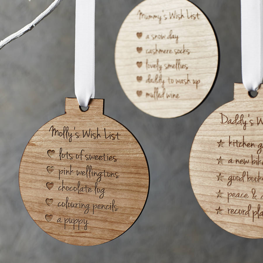 personalised oversized christmas list bauble decoration