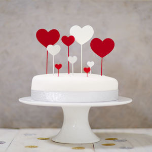 Heart Cake Topper Set - cake decoration