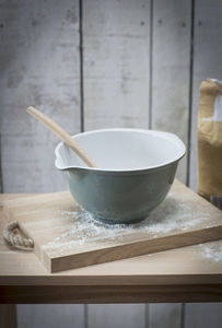 Bakewell Ceramic Mixing Bowl In Shutter Blue