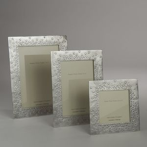 Floating Hearts Cast Pewter Photo Frame - picture frames