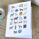 Dog Alphabet Card