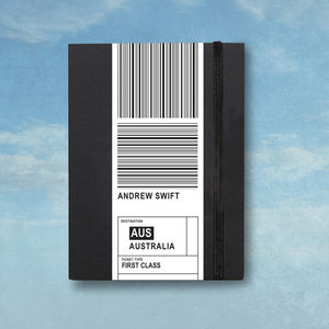 Personalised Travel Notebook - writing