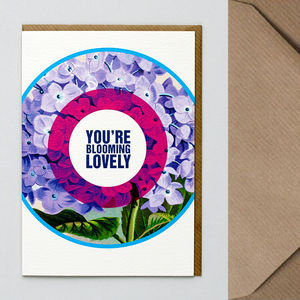 Blooming Love Greetings Card - valentine's cards
