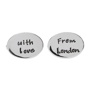 From London With Love Oval Cufflinks - cufflinks