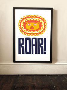 Children's Lion Roar Art Print - posters & prints