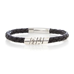 Life's About Black Men's Scroll Bracelet - men's jewellery