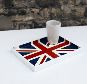 Union Flag Lacquer Vanity Tray - trays