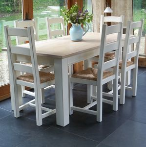 Beckford Table With Ladder Back Chairs Hand Painted - dining room